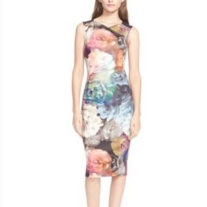 Ted Baker Technicolor Bloom Dress Size 1 US 4